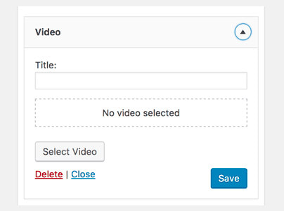 ابزارک ویدئو وردپرس