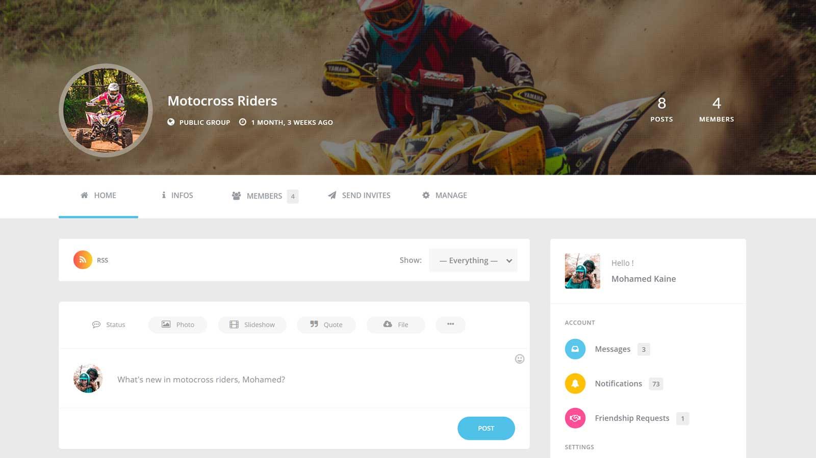 ساخت شبکه اجتماعی با وردپرس توسط افزونه youzer و بادی پرس 26