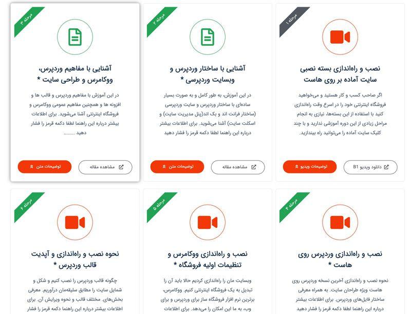 پکیج آموزش طراحی فروشگاه اینترنتی با ووکامرس 4